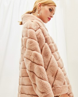 Rex Rabbit Fur Cape Style Jacket