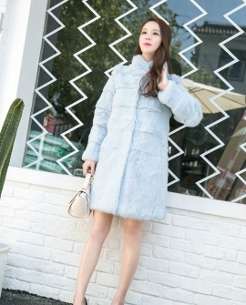 3/4 Length Sheared Rabbit Fur Coat