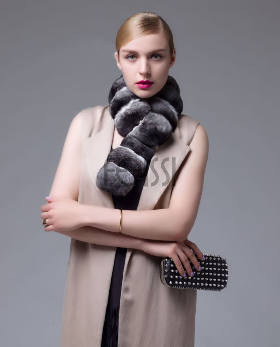 Chinchilla Fur Scarf 672_1