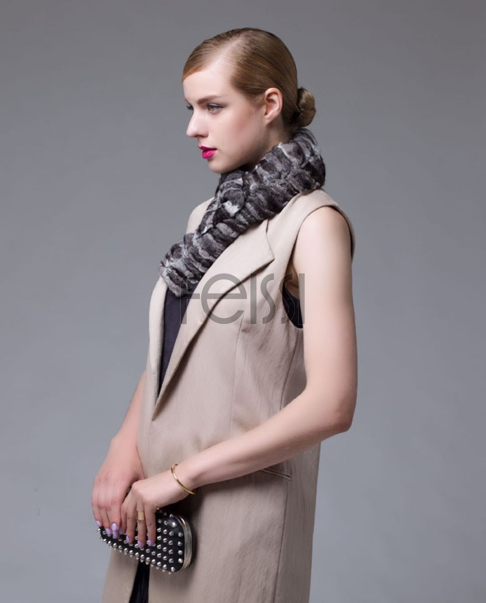 Chinchilla Fur Scarf, Collar 674_1