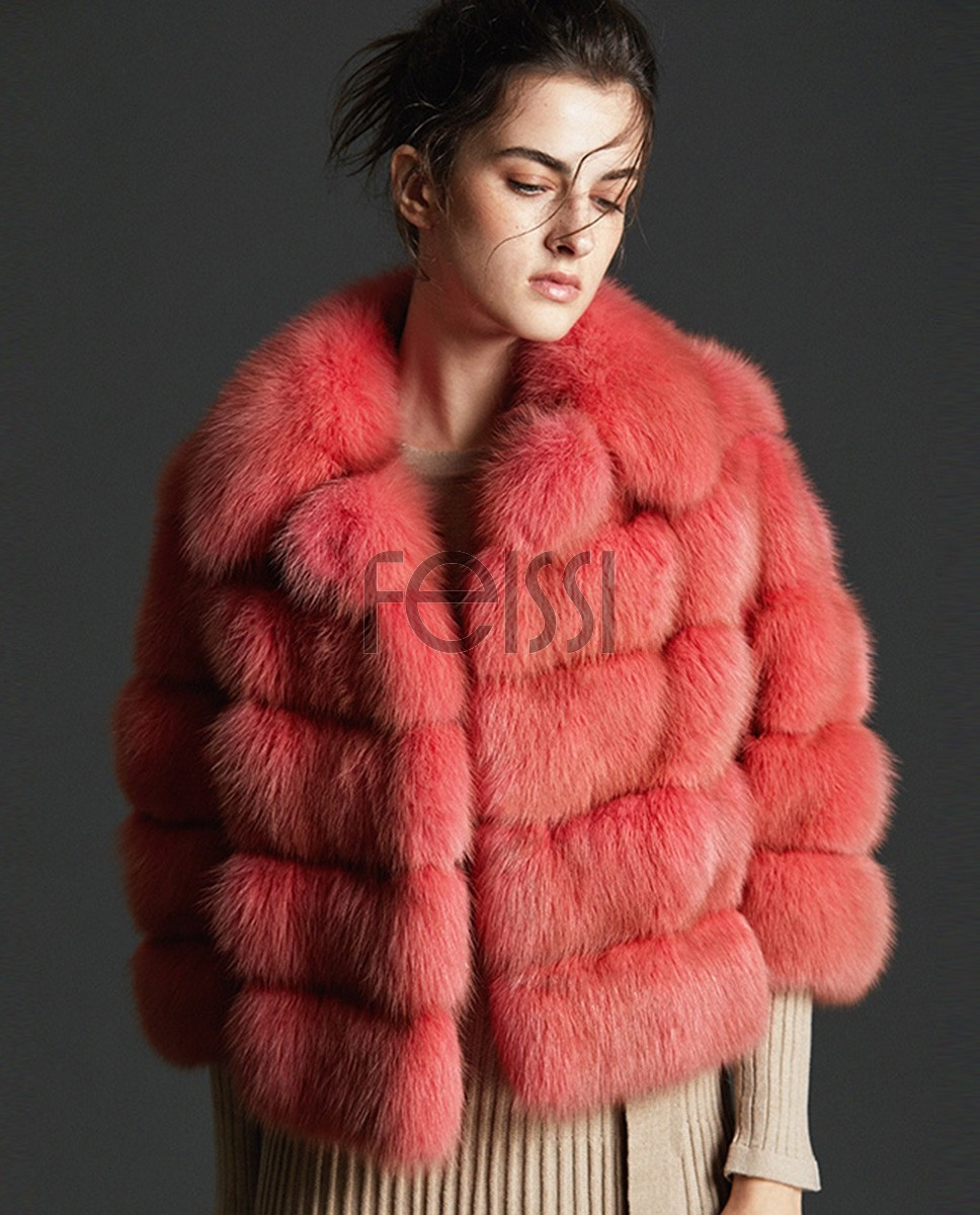 Cropped Sable Fur Jacket 0079a