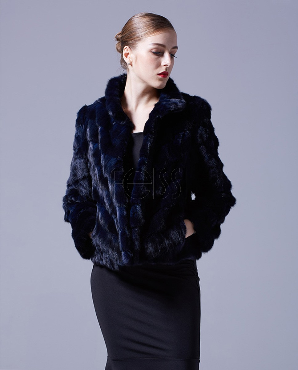 Cropped Sable Fur Jacket 068a