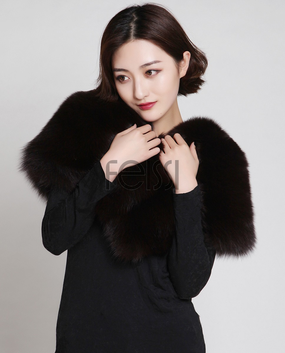 Fox Fur Capelet 882 Black 3
