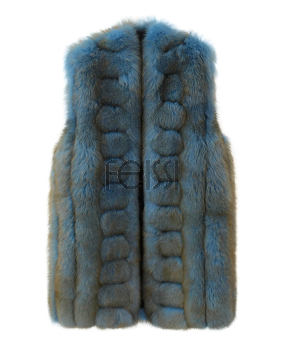 Fox Fur Long Vest 0054a