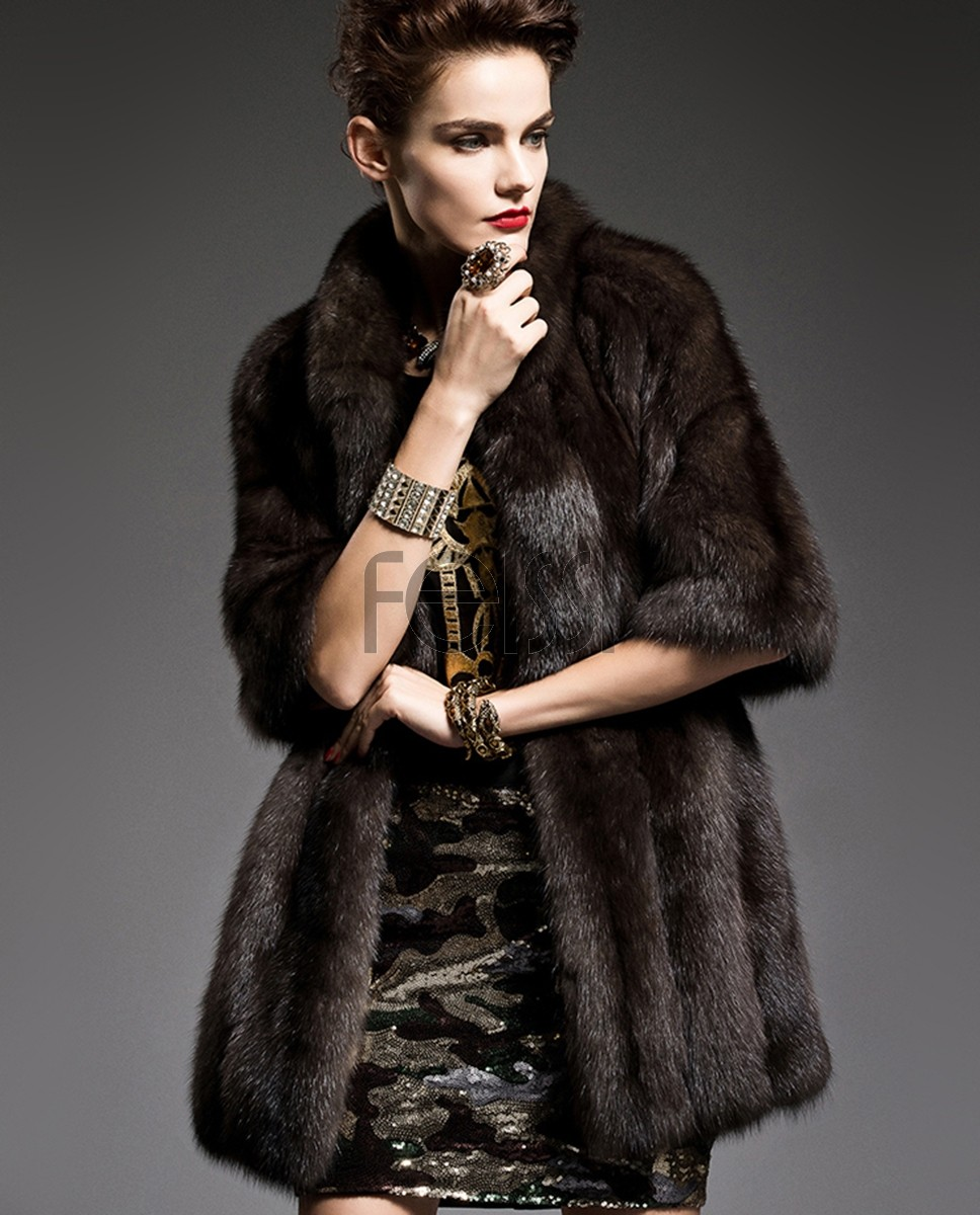 Half Sleeve Sable Fur Coat 197a