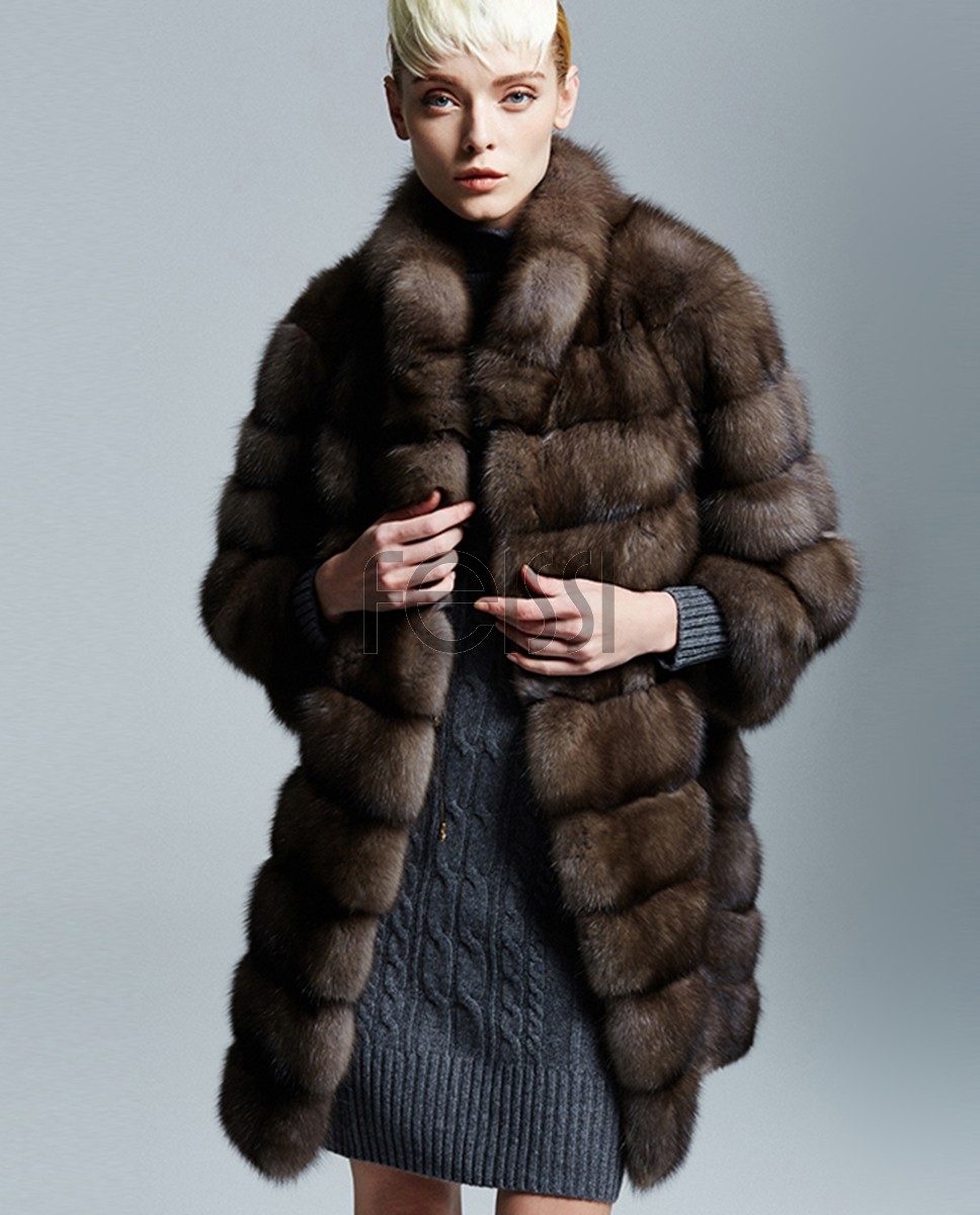 Sable Fur Coat 173a