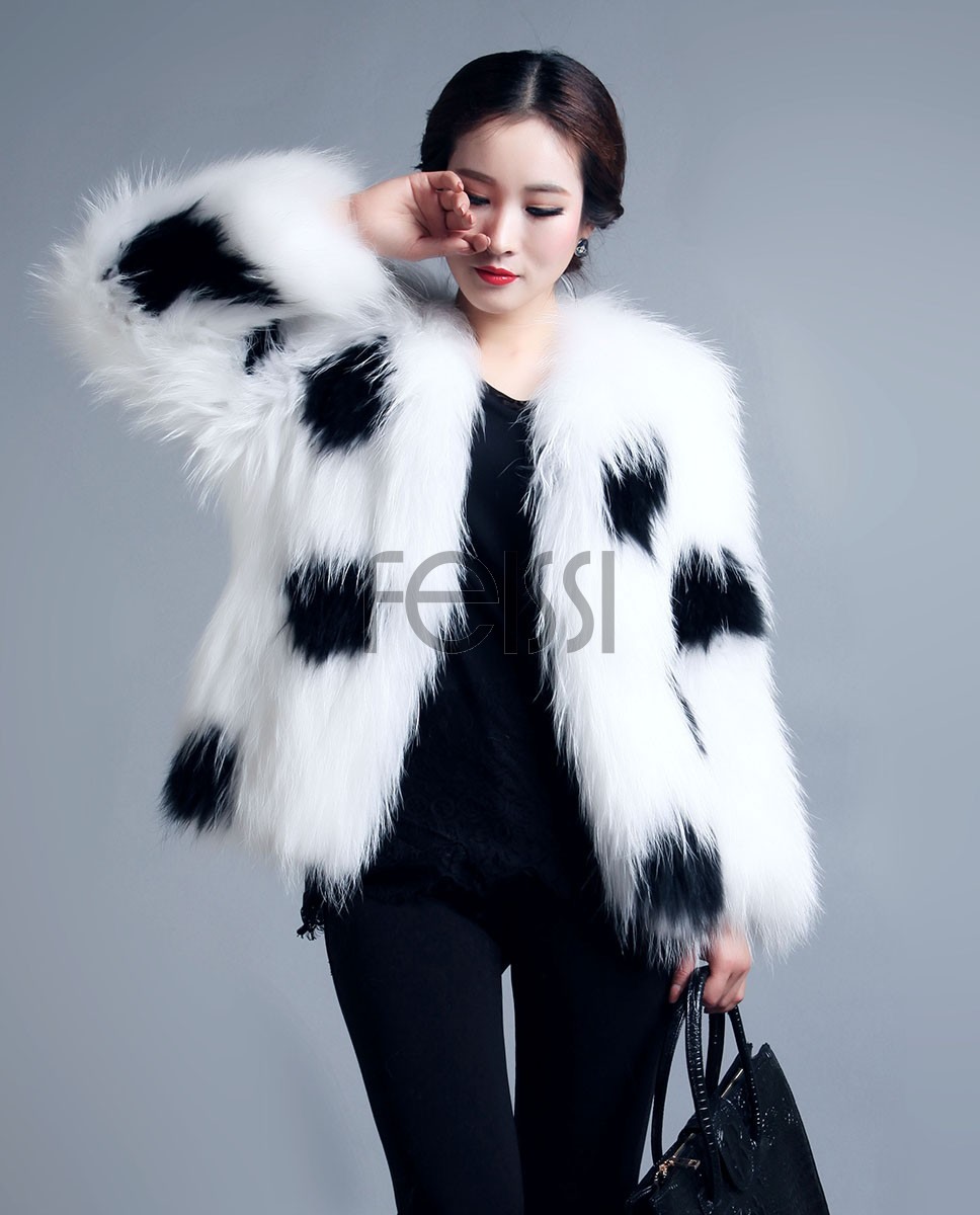 Women's Knitted Raccoon Fur Coat 597_1
