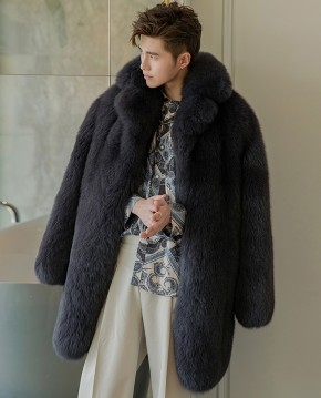 Men's Fox Fur Coat