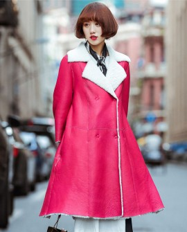 3/4 Length Shearling Lambskin Coat