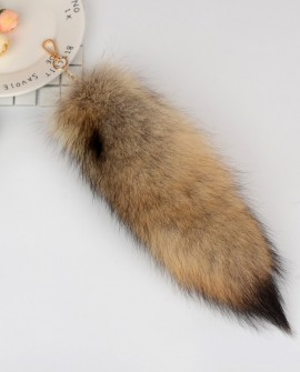 American Coyote Fur Tail Pendant Bag Charm