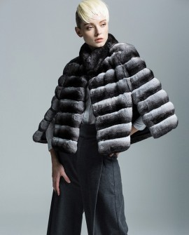 Chinchilla Fur Cape 154a