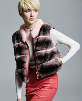 Chinchilla Fur Vest 160a