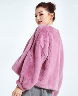 Cropped Mink Fur Jacket 0046a