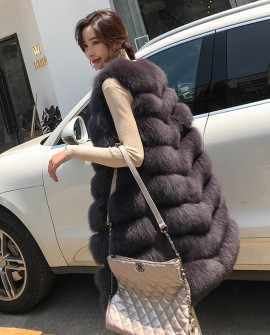 Fox Fur Long Vest 0035a