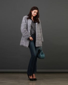 Knitted Mink Fur Coat