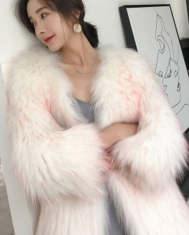 Knitted Raccoon Fur Jacket 313a