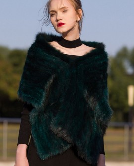 Knitted Sable Fur Shawl, Cape