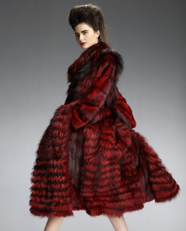 Mink Fur Fox Fur Long Coat