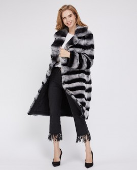 Rex Rabbit Fur Coat 221a