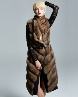 Sable Fur Long Vest 187a