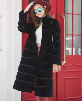 3/4 Length Sheared Rex Rabbit Fur Coat