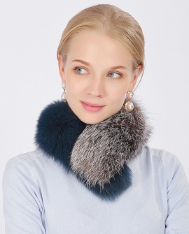 Two-tone Fox Fur Scarf 373a