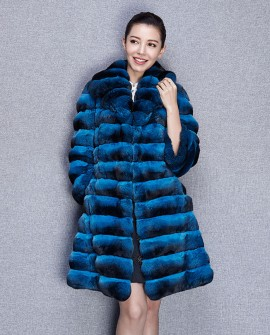 3/4 Length Chinchilla Fur Coat