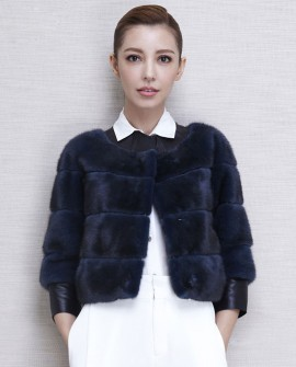 Cropped Mink Fur Jacket
