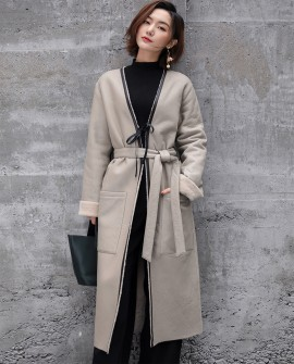 Full Length Shearling Sheepskin Long Coat