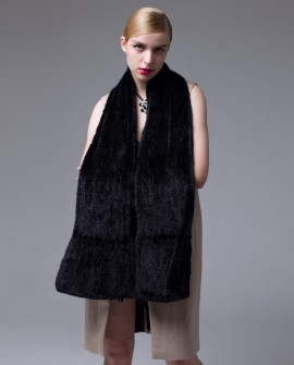 Knitted Mink Fur Shawl