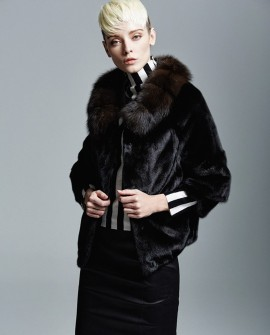 Mink Fur Jacket with Sable Fur Collar