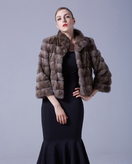 Sable Fur Cropped Jacket