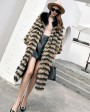 3-4 Length Fox Fur Coat with Cashmere Lining 978d