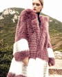 3-4 Length Hooded Fox Fur Coat 297a