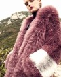 3-4 Length Hooded Fox Fur Coat 297b