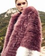 3-4 Length Hooded Fox Fur Coat 297c