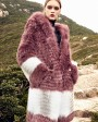 3-4 Length Hooded Fox Fur Coat 297e
