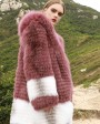 3-4 Length Hooded Fox Fur Coat 297i