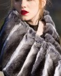 Chinchilla Fur Shawl, Cape Stole 675a_3