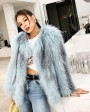 Cropped Knitted Fox Fur Jacket 275a