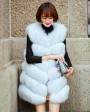 Fox Fur Vest 691 White 1