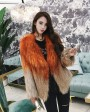 Gradient Color Knitted Fox Fur Jacket 984b