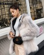 Hooded Knitted Fox Fur Jacket 276h