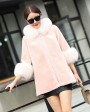 Hooded Shearling Lambskin Jacket with Fox Fur Trim 768 Pink 1