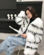 Knitted Fox Fur Jacket 316b