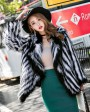 Knitted Fox Fur Jacket 977c