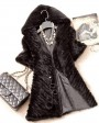 Knitted Mink Fur Jacket With Hood 749 Black 1