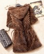 Knitted Mink Fur Jacket With Hood 749 Coffee 2