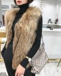 Knitted Raccoon Fur Vest 303b