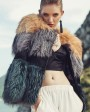 Layered Multicolor Fox Fur Jacket 295b